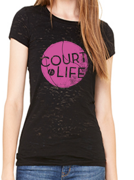 Court Life™ - Women's Burnout Tee
