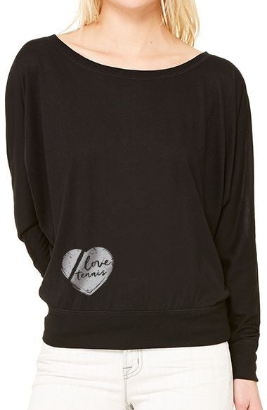 Love Tennis™ - Mini Women's Flowy Long Sleeve Tee