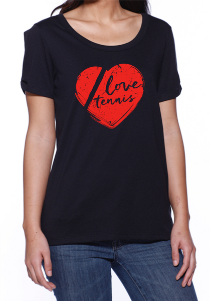 Love Tennis™ - Women's Shoulder Twist Tee