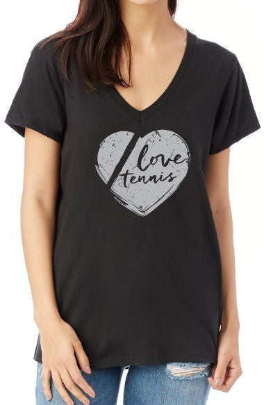 Love Tennis™ - Women's V-neck Tee
