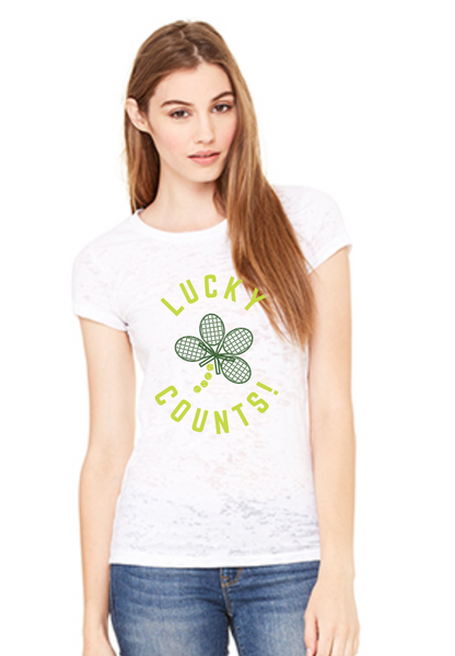 Lucky Counts™ - Women's Burnout Tee