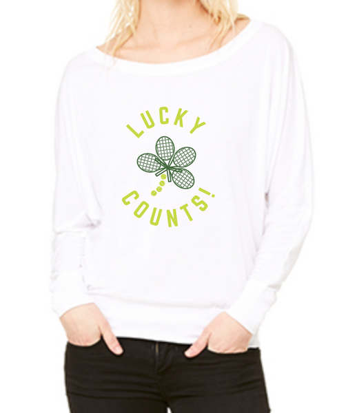 Lucky Counts™ - Women's Flowy Long Sleeve Tee