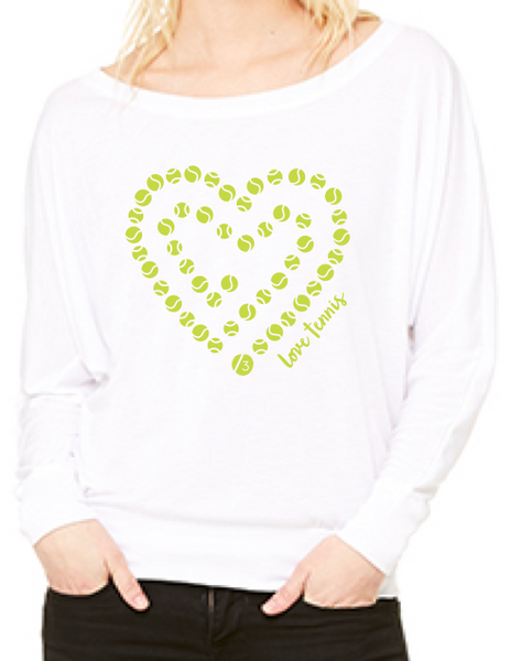Love Tennis™ Chain - Women's Flowy Long Sleeve Tee