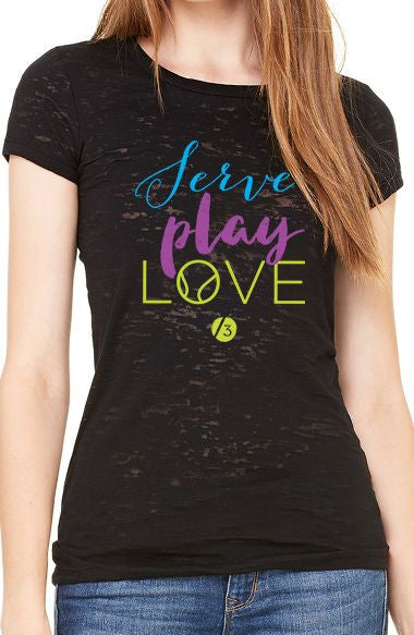 ServePlayLove™ - Women's Burnout Tee