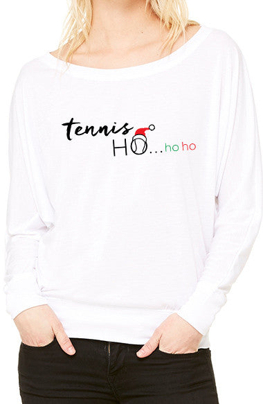 Tennis Ho...Ho Ho™ - Women's Flowy Long Sleeve Tee