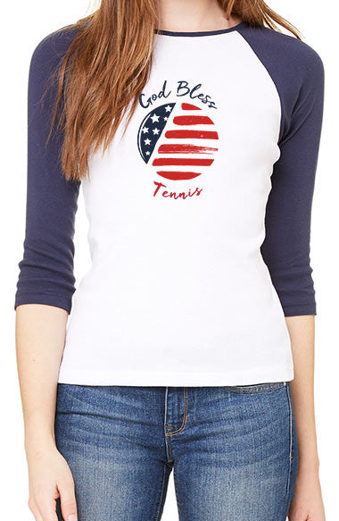 God Bless Tennis™ - Women's Baseball Tee