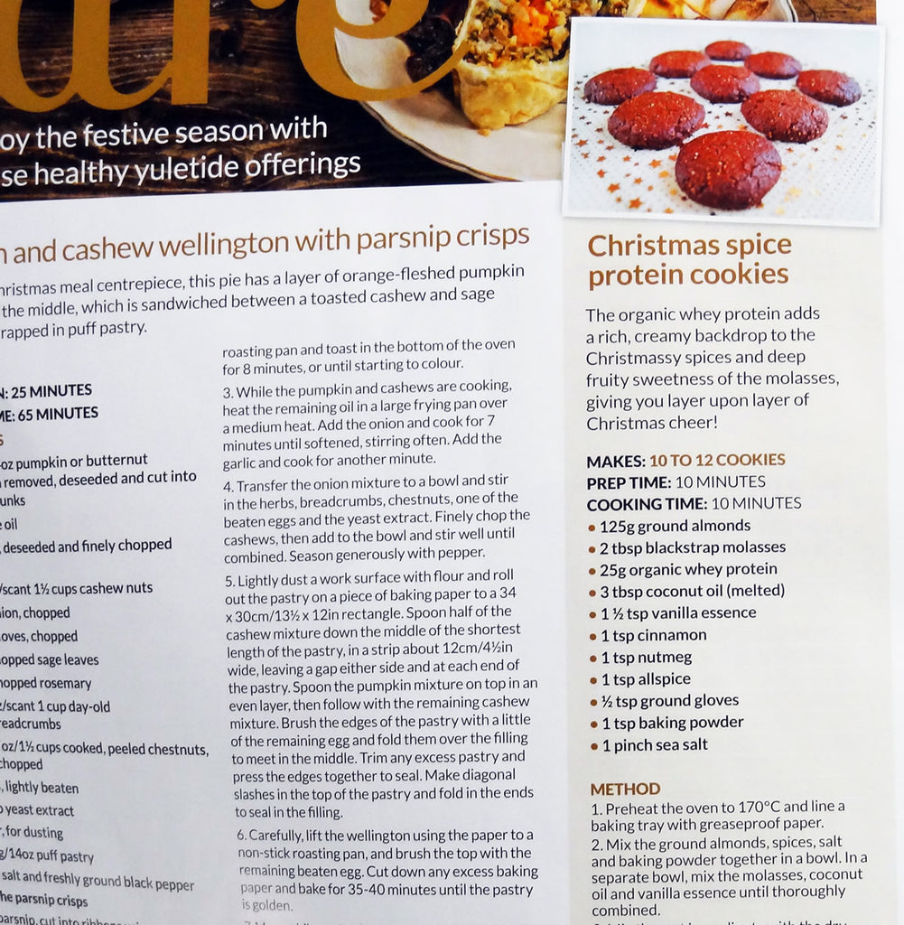 Christmas Spice Protein Cookies in Your Healthy Living Magazine main image