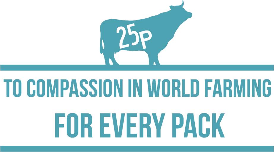 25p to compassion in world farming illustration