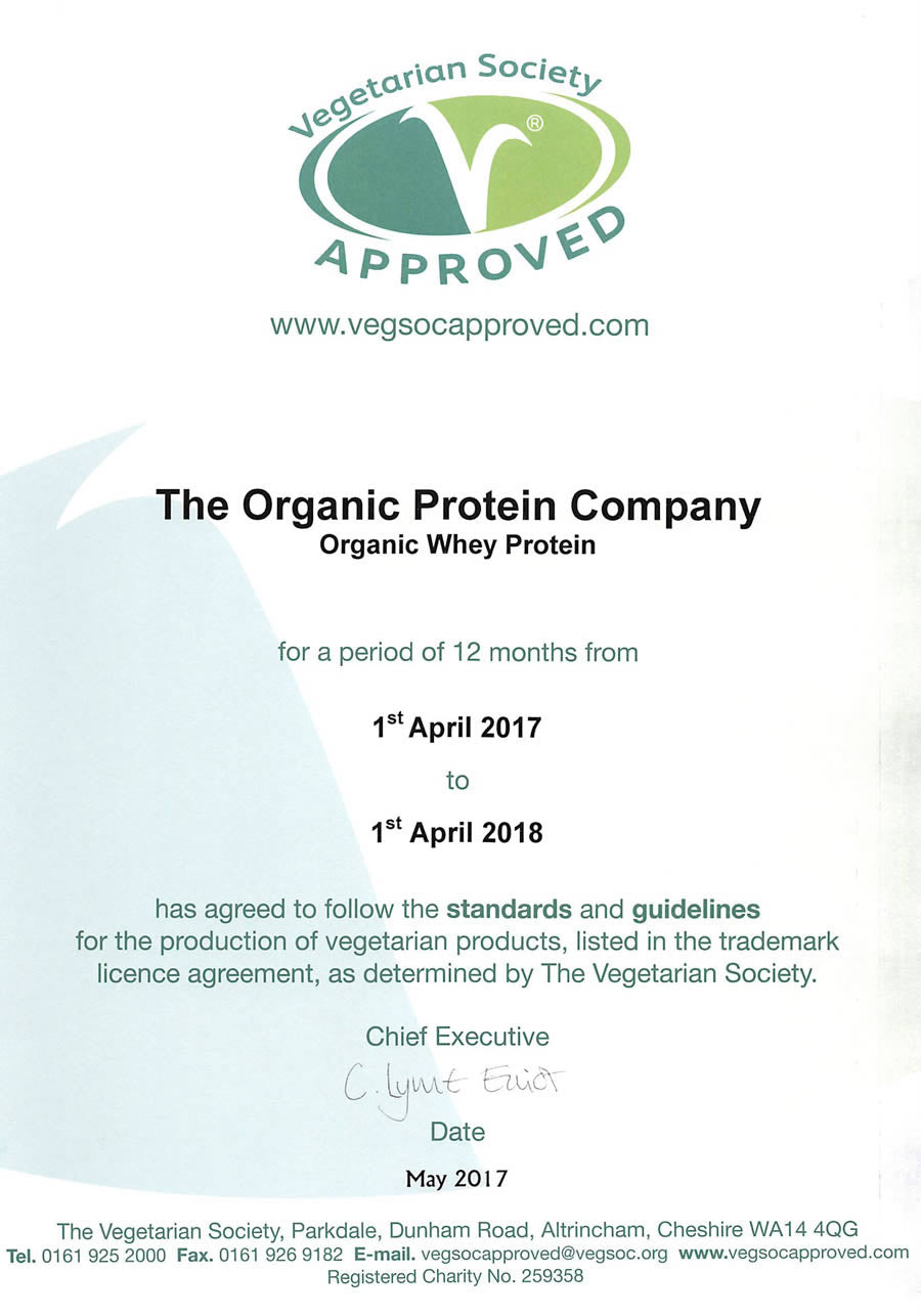 organic food federation certificate