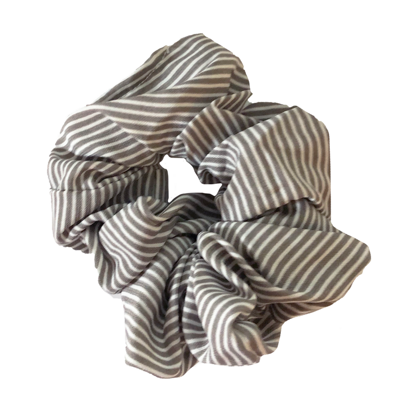 Headbands of Hope - Taupe & White Striped Crazy