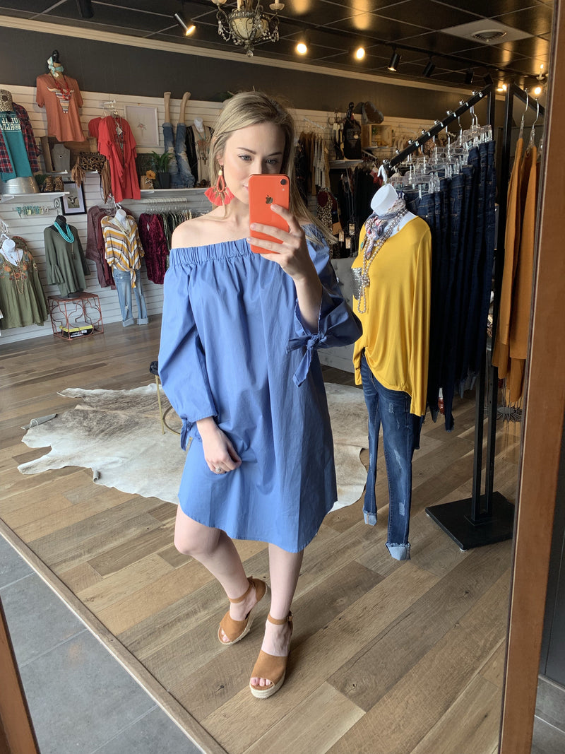 Take It Easy Off The Shoulder Dress