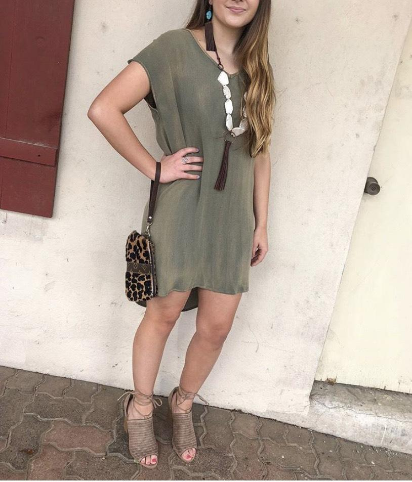 Green with Envy mineral Wash dress