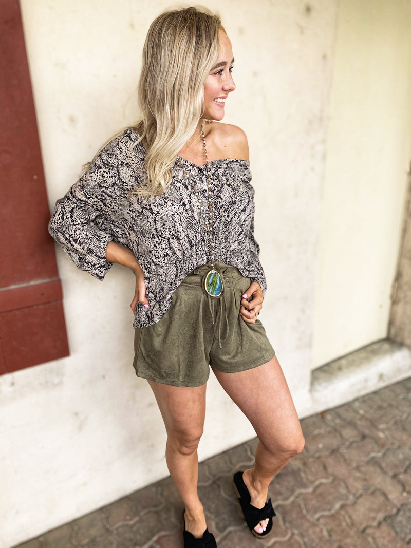Dolly Suede Shorts