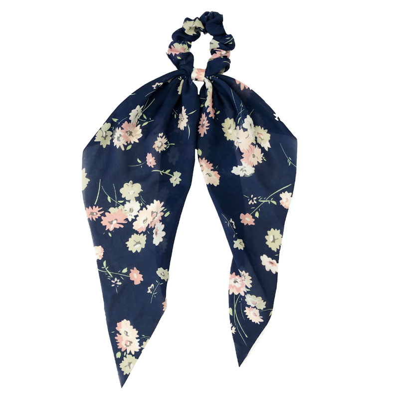 Headbands of Hope - Darling Scrunchie Navy Floral
