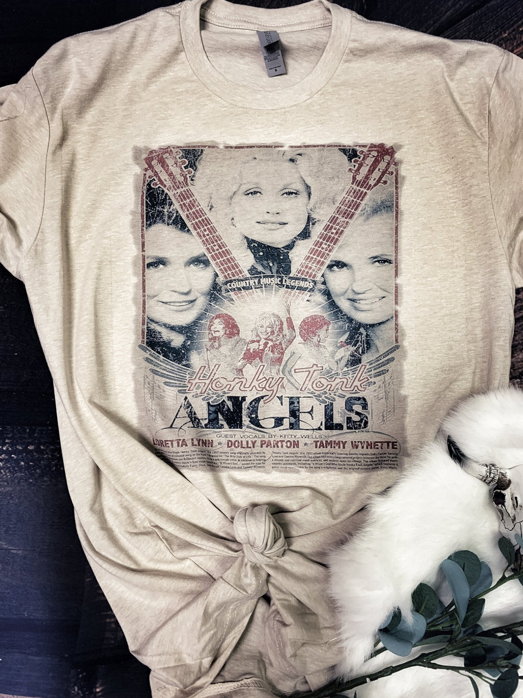 Honky Tonk Queens Graphic Tee with Dolly