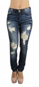 Med Wash Distressed Denim Jeans