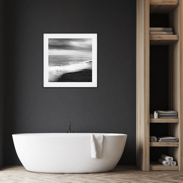 'Black Sands' Coastal Wall Art Print