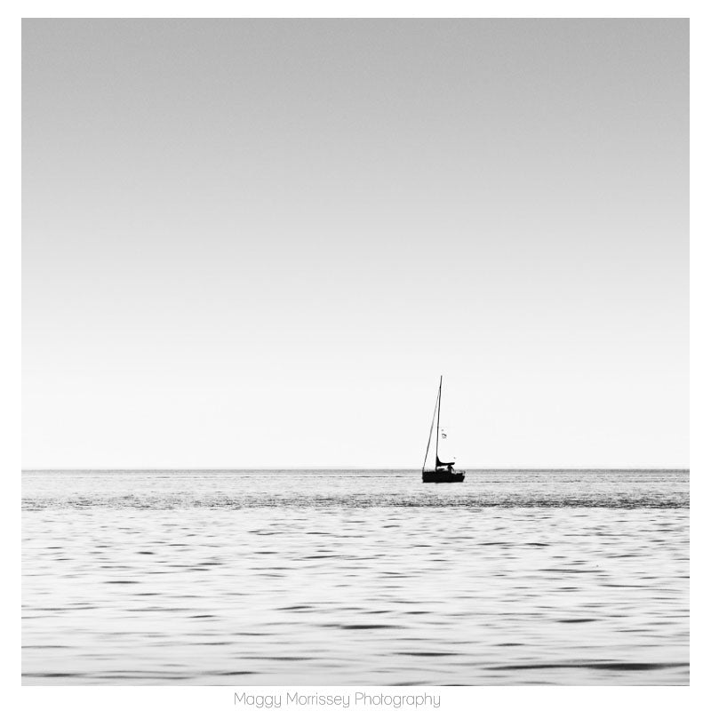 'Sailing Through Silver Light' Black and White Photograph Print