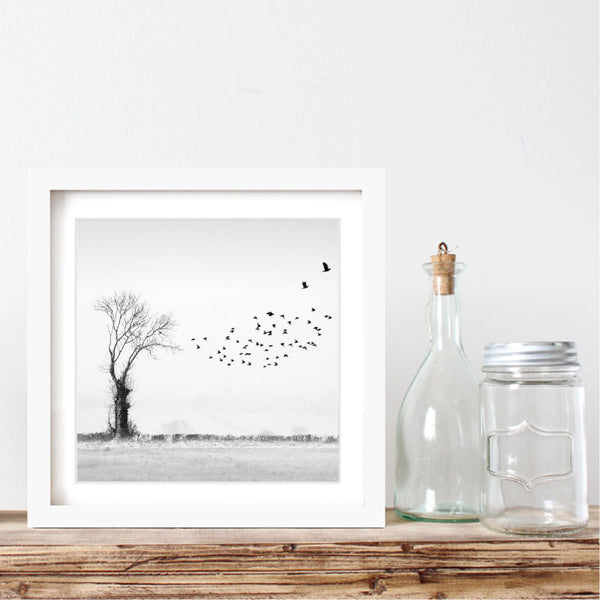 'Snowbirds' Winter Snow Wall Art Print