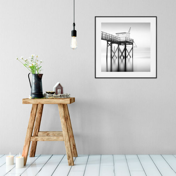 'Fishing The Horizon' French Fishing Hut Art Print