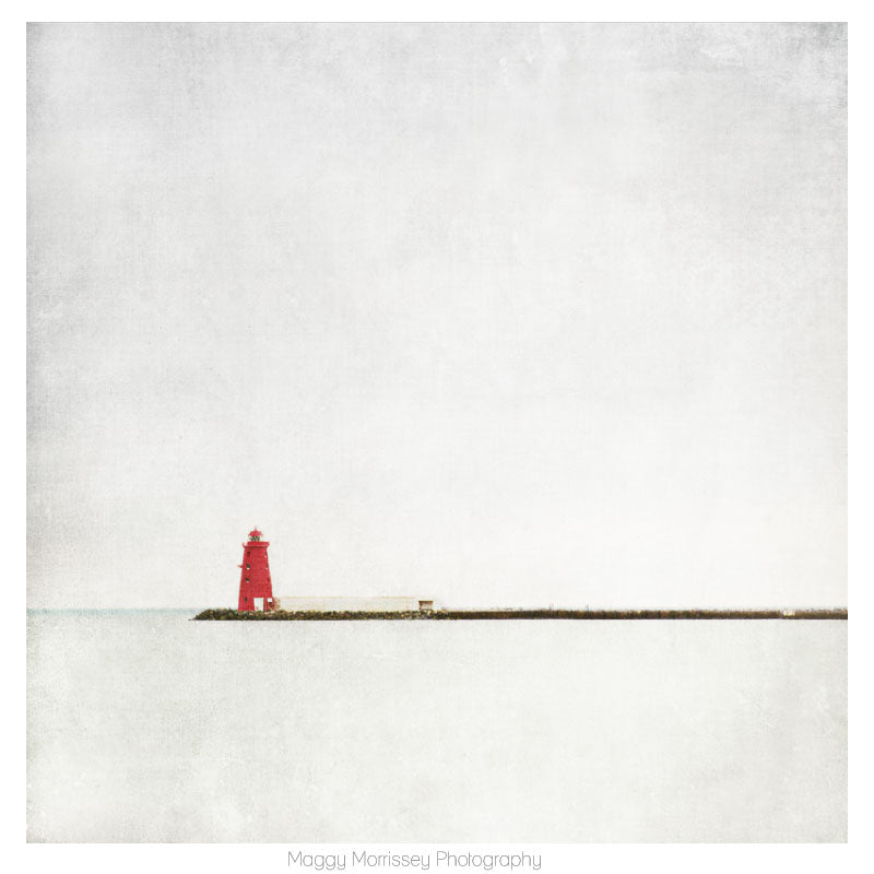 'Meet Me At The Red Lighthouse' Dublin Bay Art Print