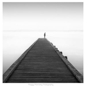 'Fishing For Dreams' Black and White Photograph