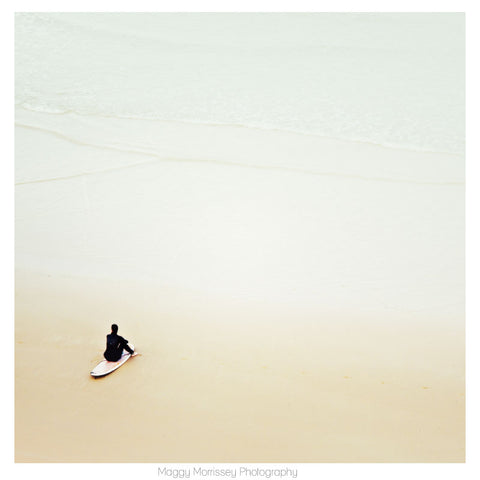 'Waiting For The Wave' Surf Wall Art Print