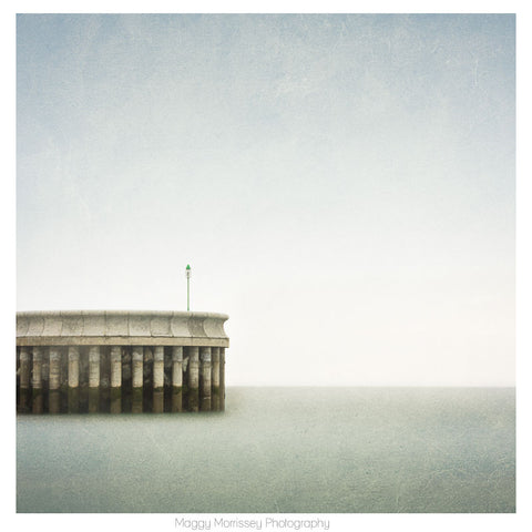 'Greystones North Pier' Coastal Art Print