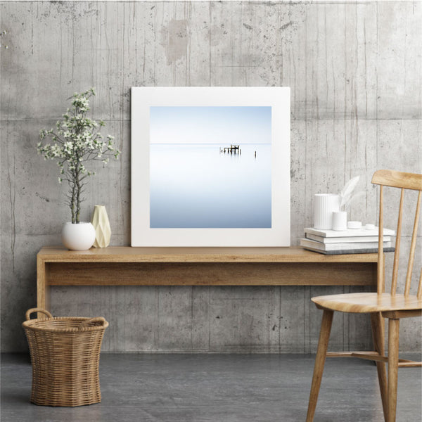 'Sea Dreams' Blue Coastal Wall Art Print