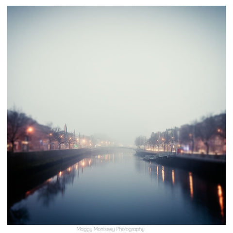 'Blue Dawn' Dublin Wall Art Print