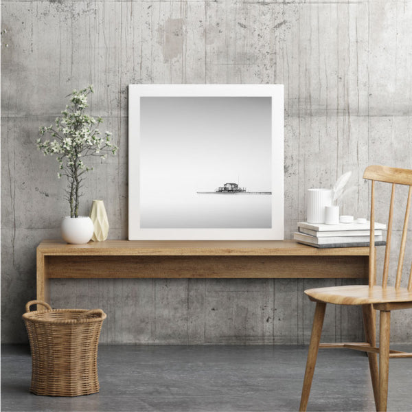 'The Lake House' Minimal Wall Art Print