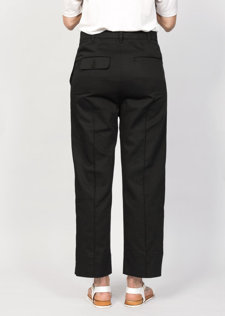 Organic cotton pants with corozo buttons