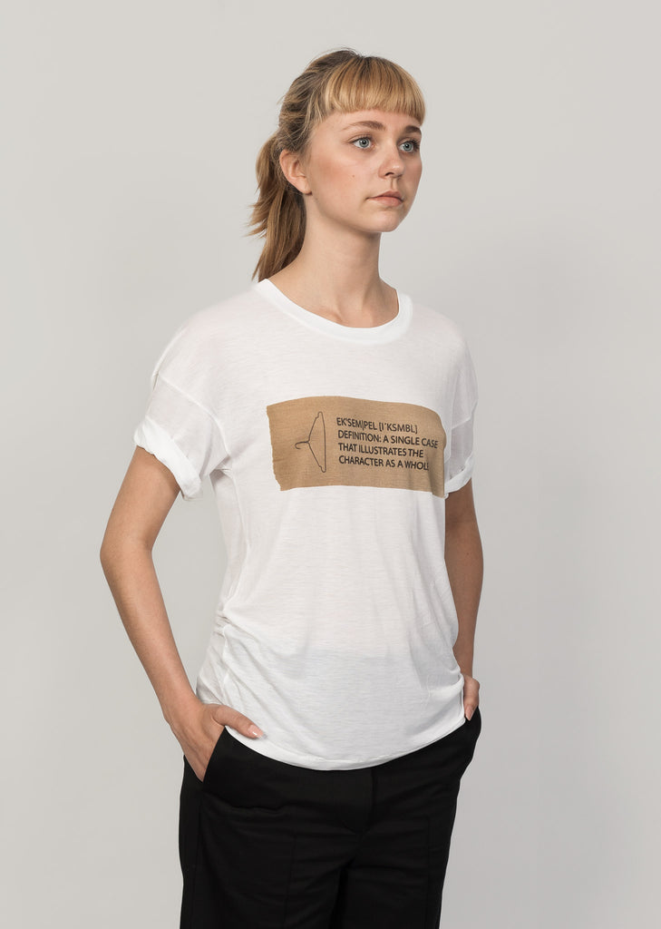 White Lyocell bamboo t-shirt with print