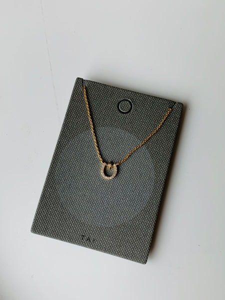 Tai Horseshoe Necklace $48