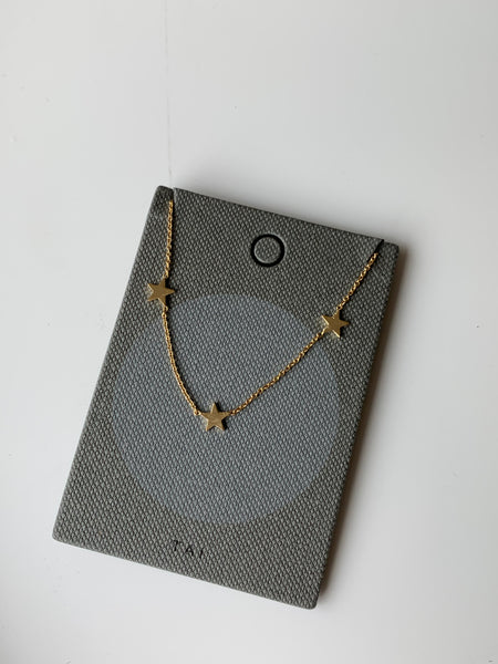 Tai Gold Star Necklace $48