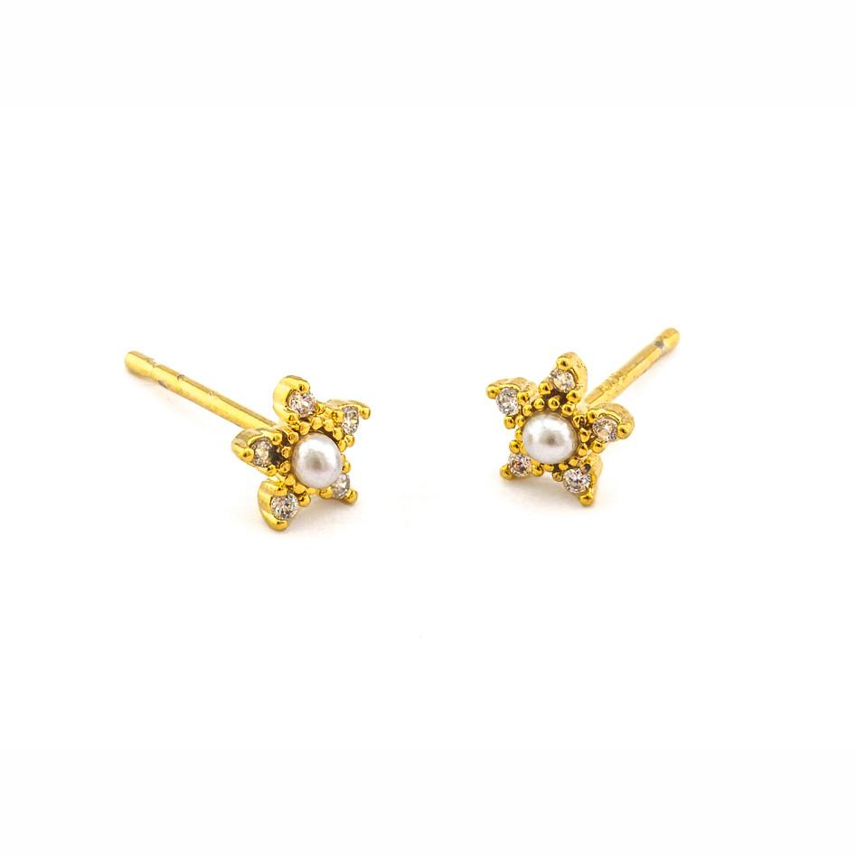 Tai Mini Pearl Flower Earrings $35