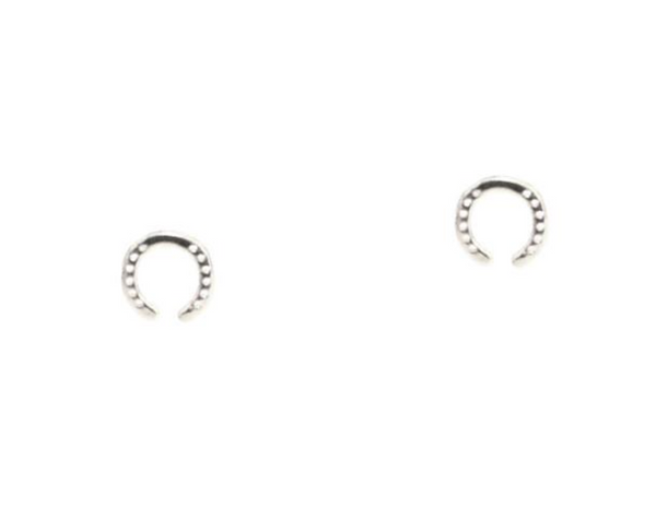 Tai Mini Etched Horseshoe Studs $25