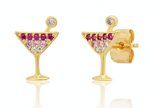 Taai Martini Glass Studs $55