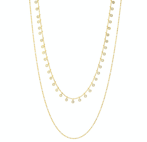 Tai Double Chain CZ Necklace $105
