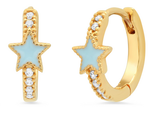 Tai Enamel Star Huggies $65