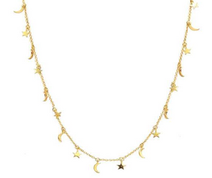 Tai Star and Moon Necklace $95