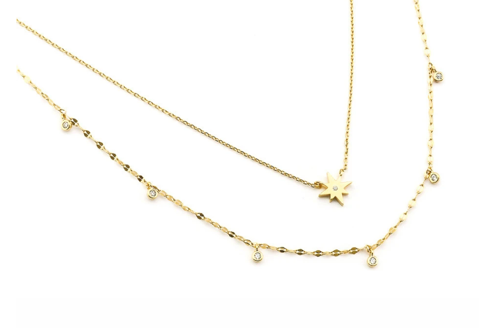 Tai Double Layered Starburst Necklace $80