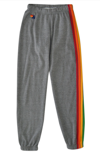 AV 5 Stripe Sweats in Heather Grey