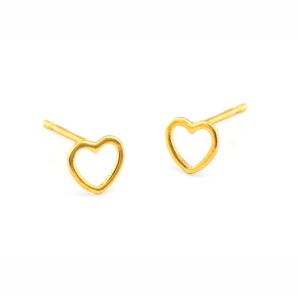 Tai Gold Heart Earrings $24