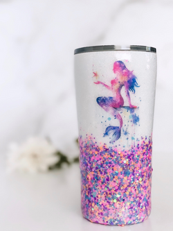 Glitter Mermaid Tumbler