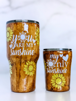 You Are My Sunshine/ My Only Sunshine Mommy & Me Tumbler Set