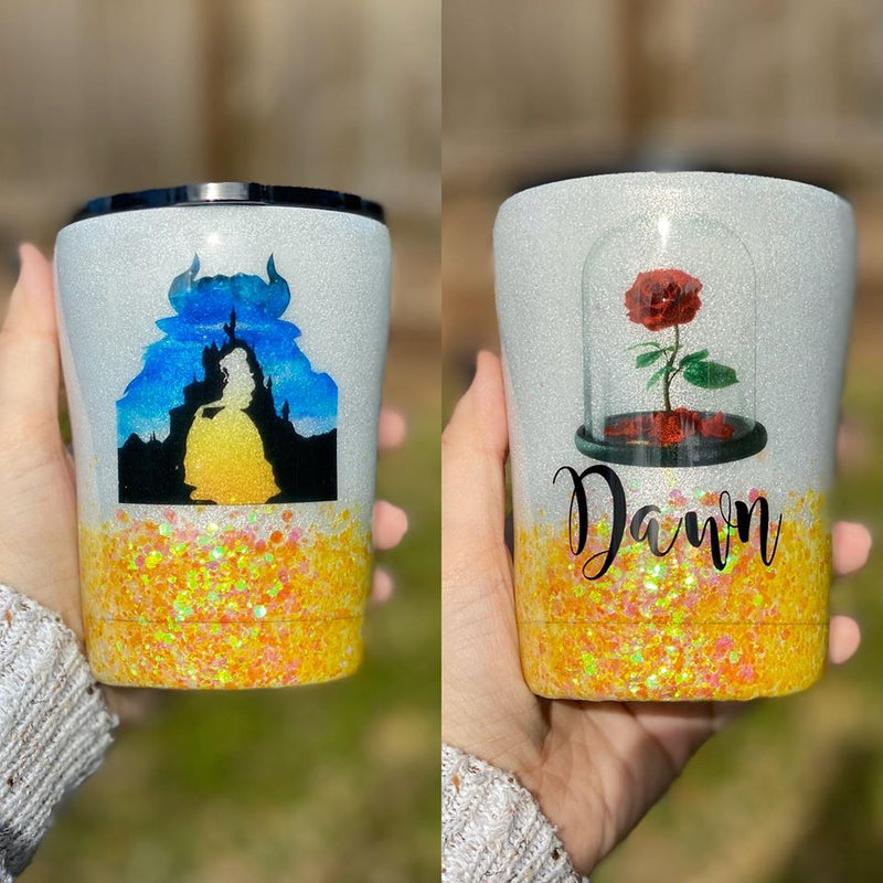 Beauty and the Beast Tumbler (Customizable)