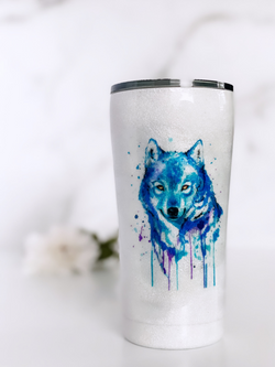 Painted Wolf Tumbler