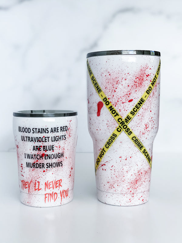 Crime TV Fan Tumbler