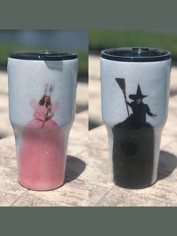 Good Witch/ Bad Witch Stainless Steel Glitter Tumbler